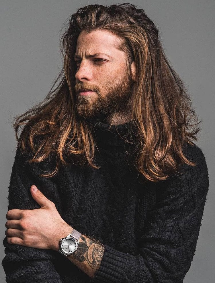rough and tough beard Long Haircut