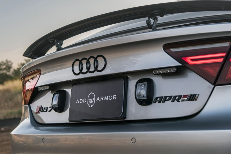 audi rs7 rear view