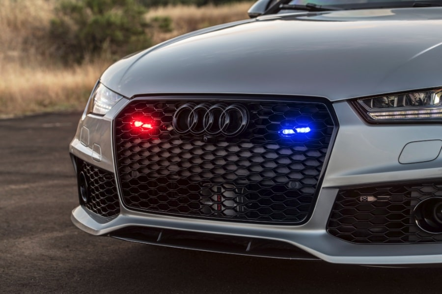 un,marked police car
