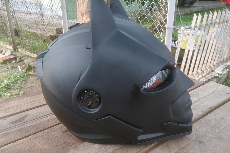 Batman helmet side