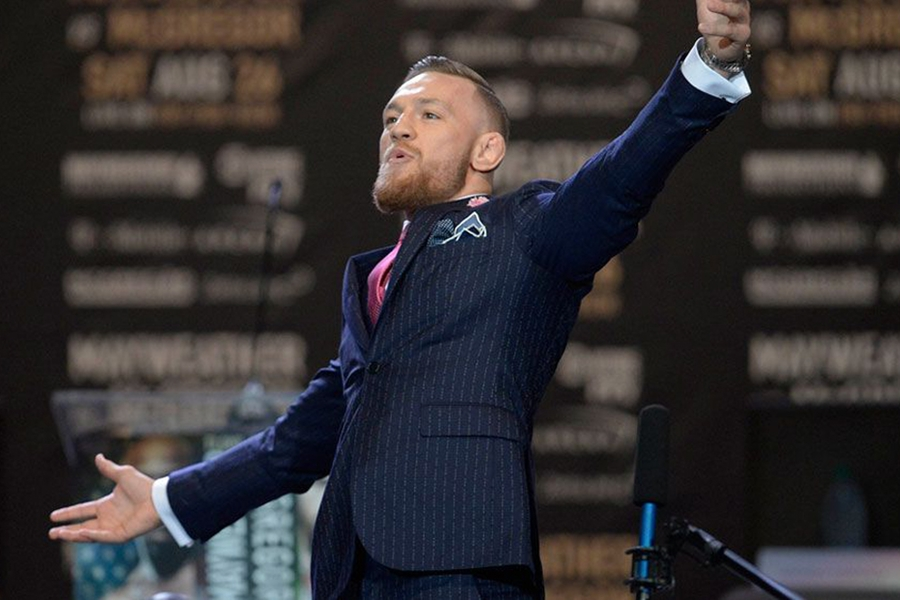 Conor McGregor Pinstripe Suit