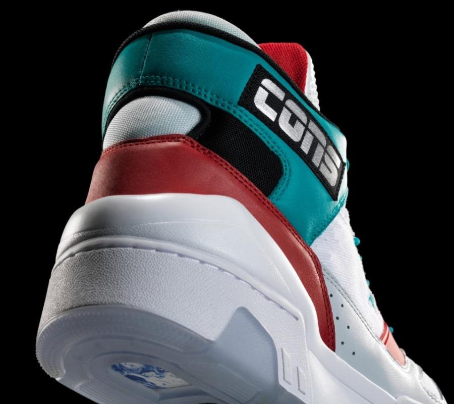 retro basketball shoe heel