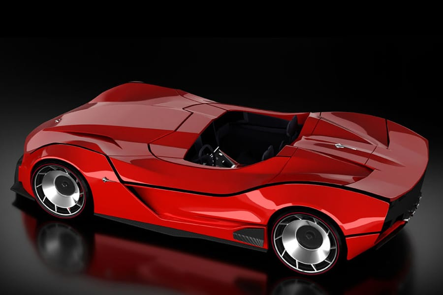 red corvette stingray design