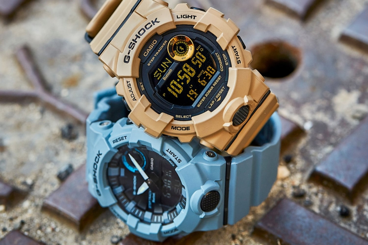 G-sHock GBD800UC blue and brown