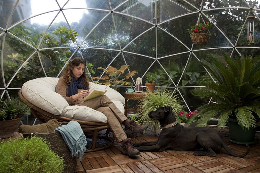 garden dome igloo suits well as study area a lady with the dog