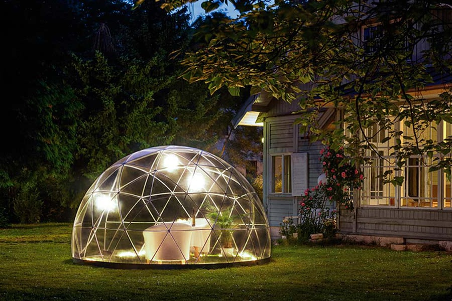 garden dome igloo at the lawn