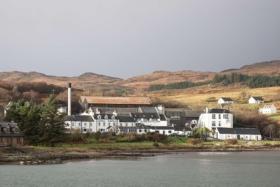 Highlands Jura scotch whisky distillery