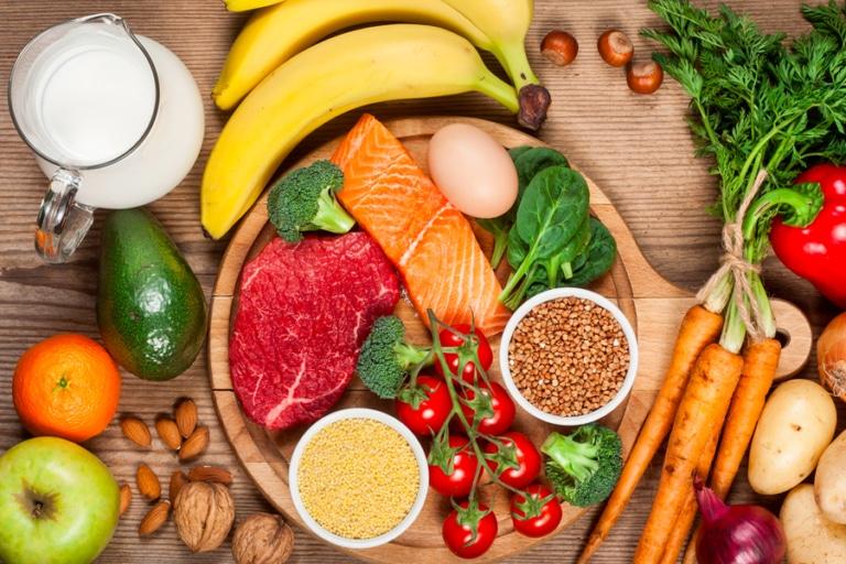 Assorted healthy ingredients