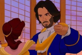 Keanu Reeves prince in disney beauty and the beast