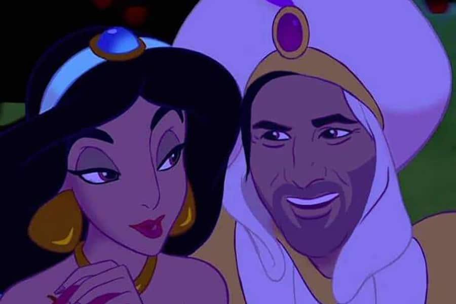 Keanu Reeves as prince in aladin