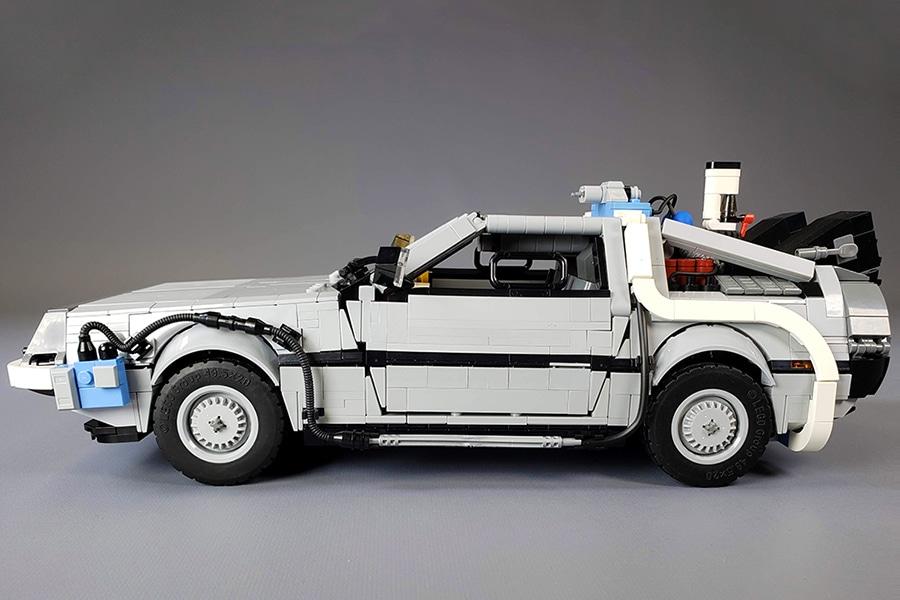 delorean famous supercar in lego form
