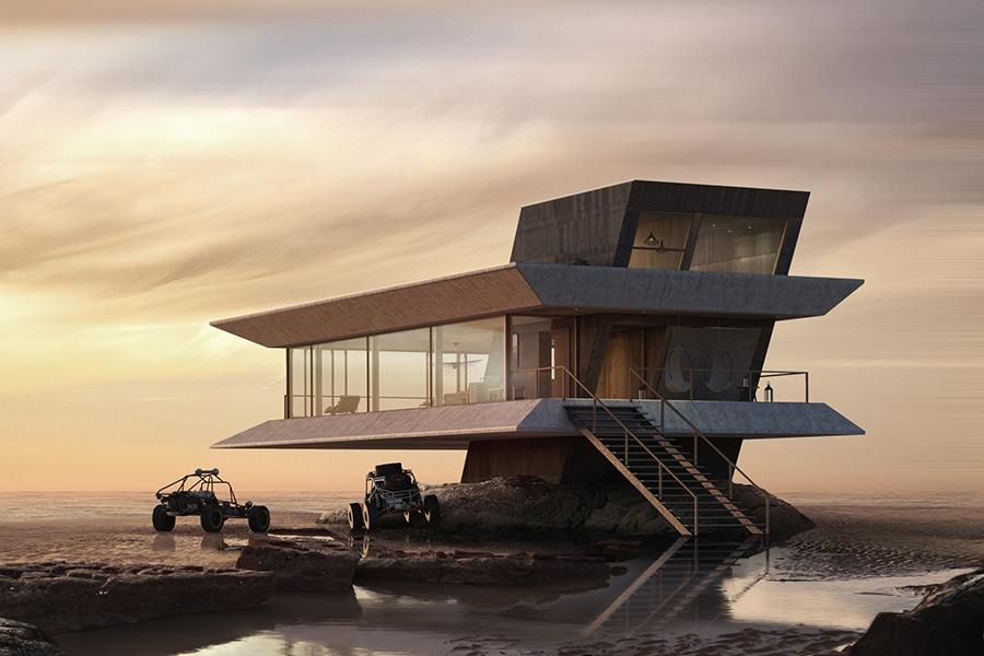 surfboard design for monolit beach house