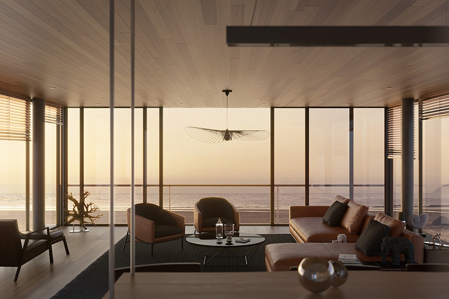 monolit house lounge view