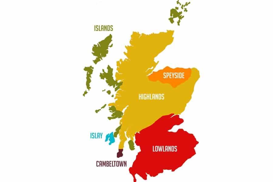 Scotland whisky regions map