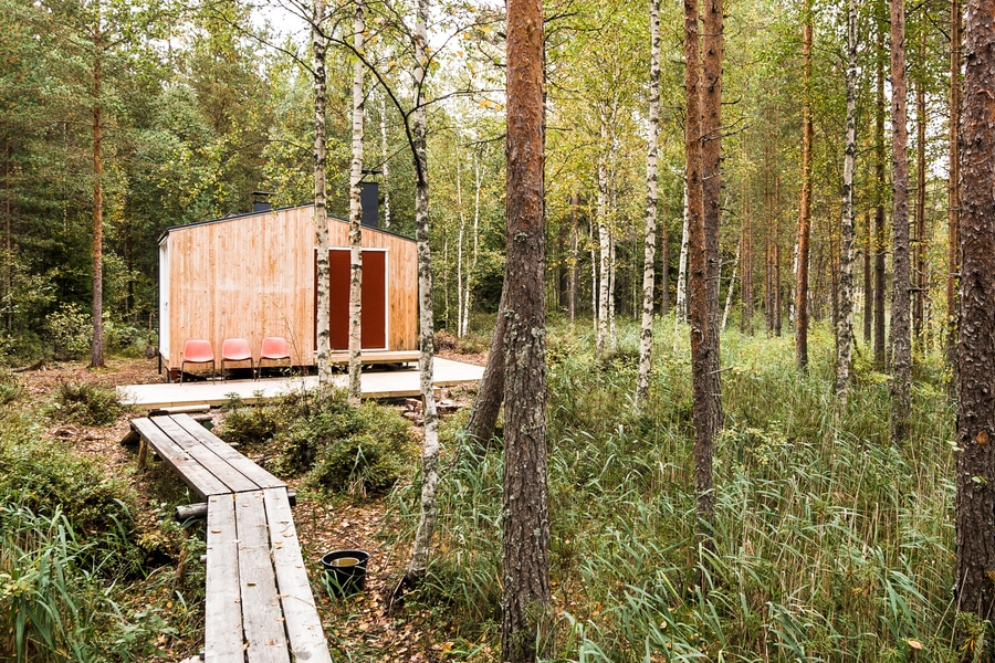 This Finnish Wooden Cabin is a Fine Fishing Getaway
