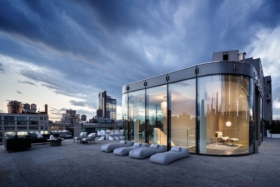 outside zaha hadid penthouse