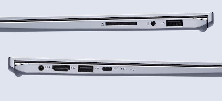 asus laptop ports
