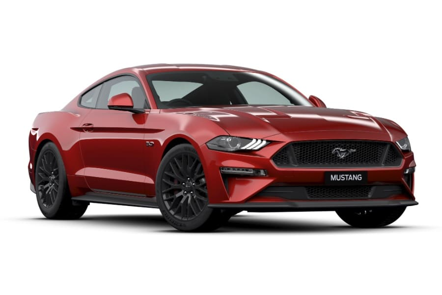 2020 ford mustang red hot paint
