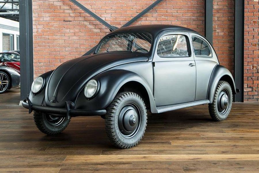 a vintage 1945 volkswagen beetle