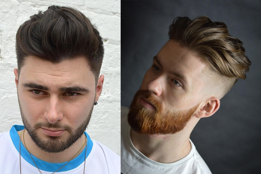men hair cut wavy quiff