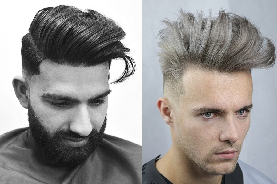 50+ Medium Length Hairstyles & Haircut Tips for Men - Quiff