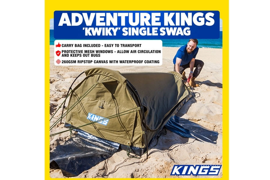 Adventure Kings Bg Daddy Single Swag 750mm 'Kwiky Tent Dome
