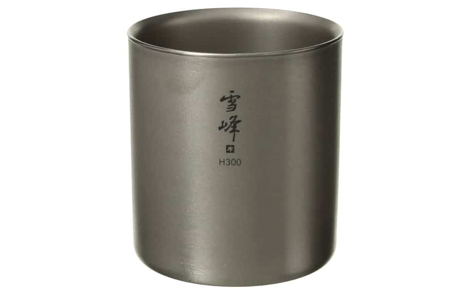 Snow Peak H450 Titanium Double Walled Stackable Cup