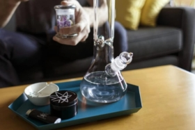 Bong on a table