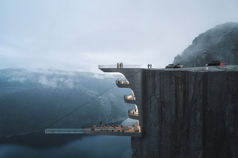 Concept Boutique Hotel is Built into a Cliff in Norway