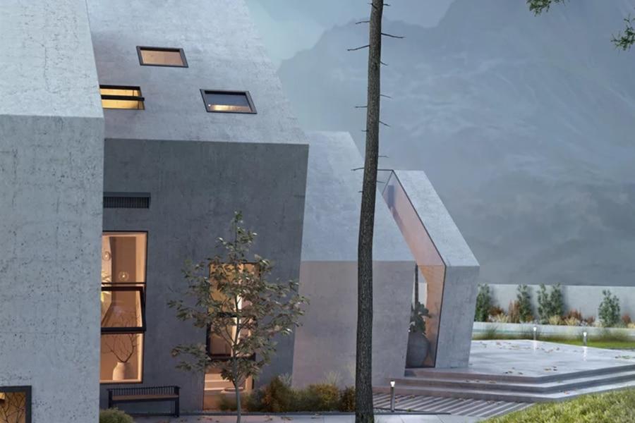 concrete pentahouse design