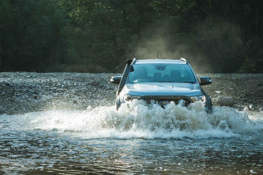 four wheel drive through water