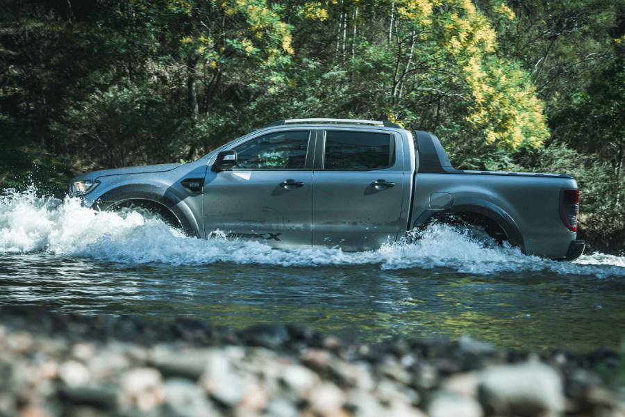 ford ranger wildtrak x through water