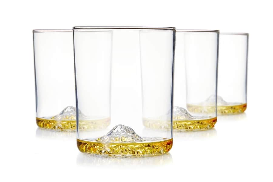 Whiskey Peaks American Mountains - Set of 4