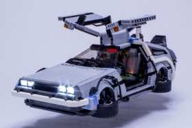 LEGO DeLorean both doors are open