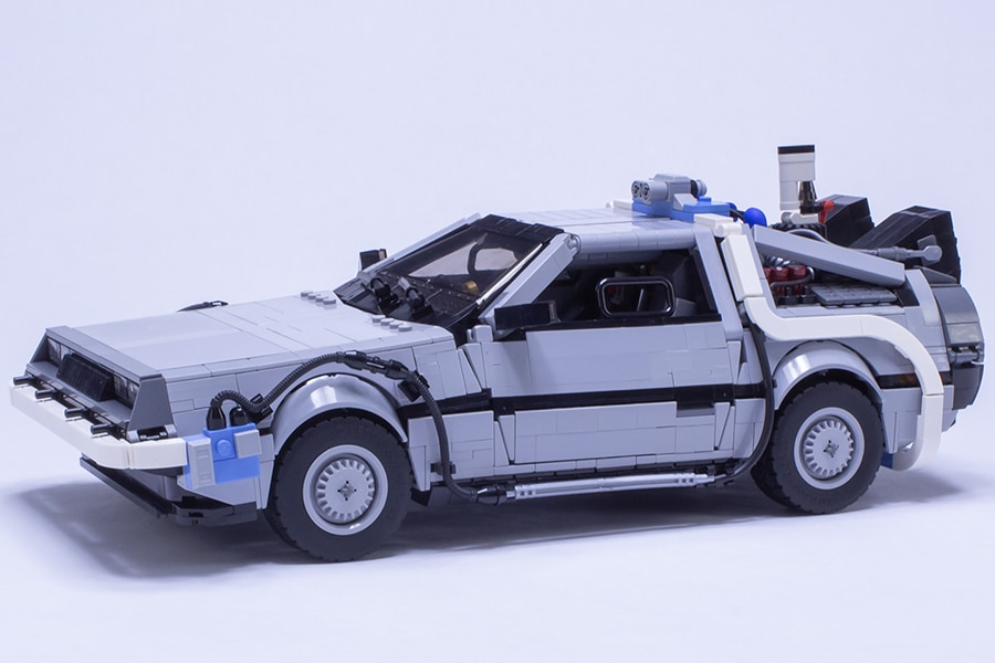 LEGO DeLorean vehicle