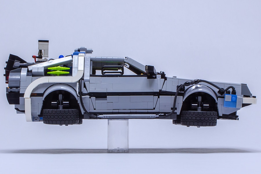 LEGO DeLorean side view of the vehicle