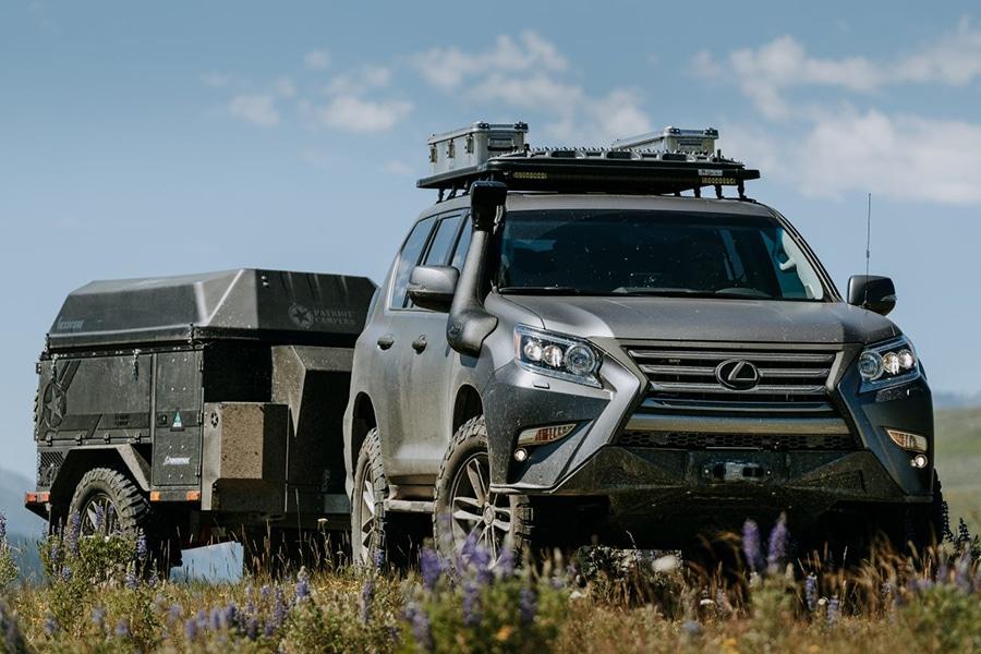 lexus overlanding camping vehicle