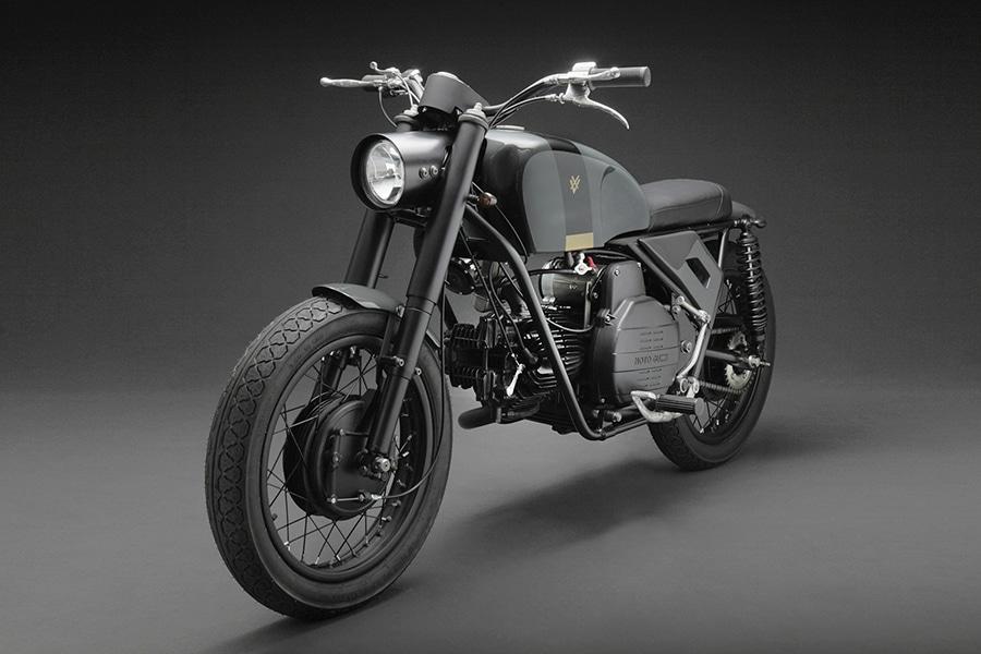 moto guzzi side view motorbike
