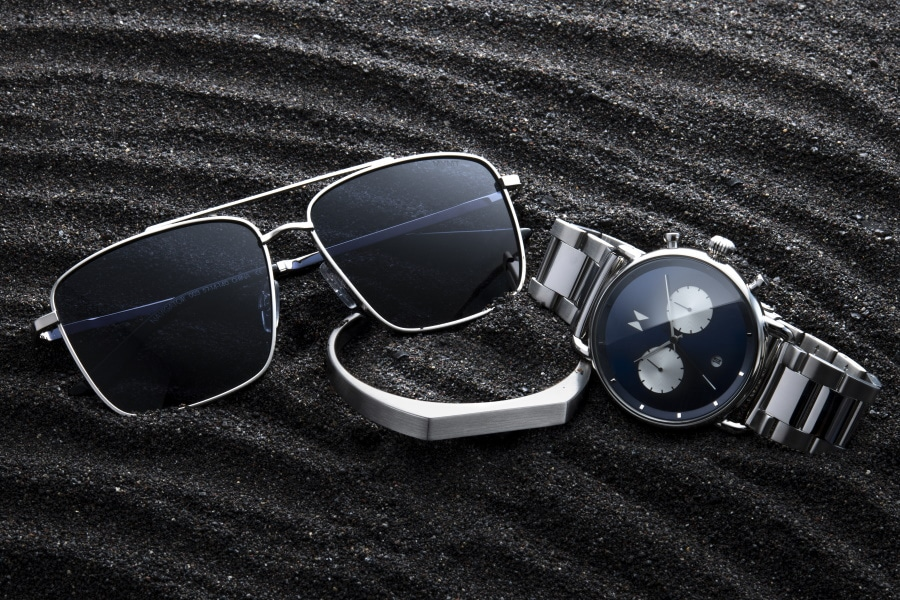 MVMT watch and sunglasses