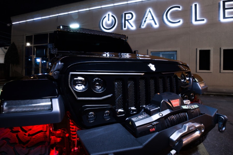 oracle led light grille