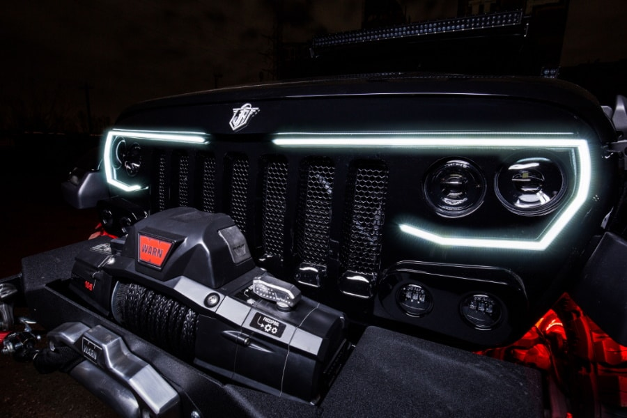 jeep wrangler grille
