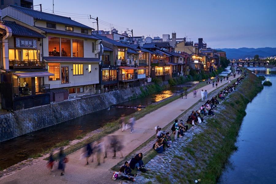 Kamogawa River Kyoto