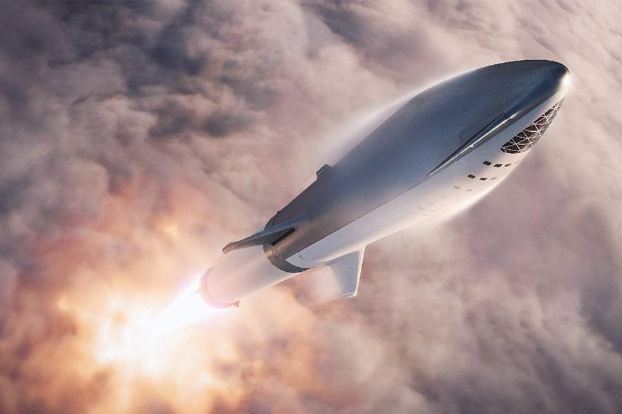 Space X Mars Passgener Flight