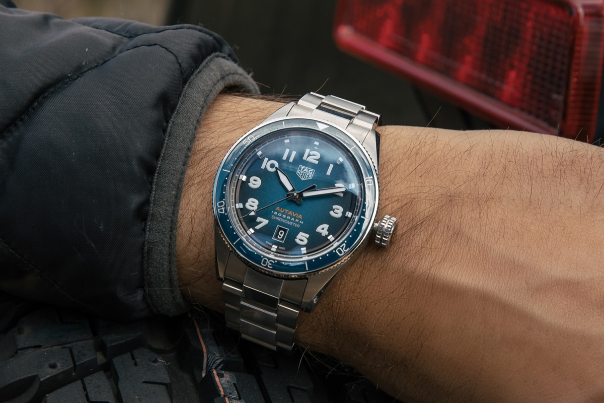 TAG Heuer Autavia collection watch on a man's wrist
