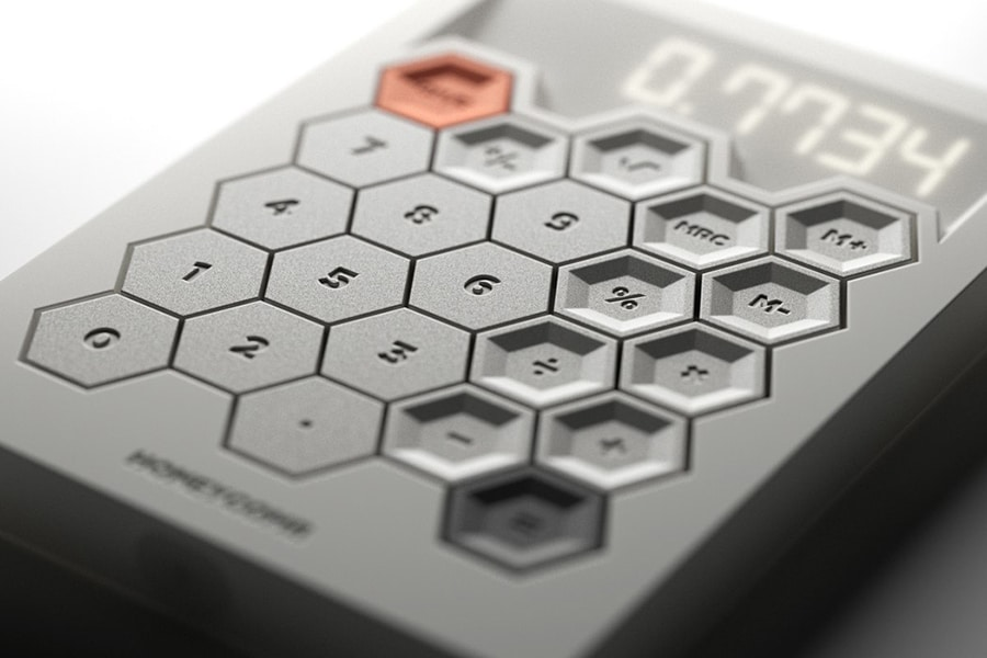 The Honeycomb Calculator has classic lcd layout and design