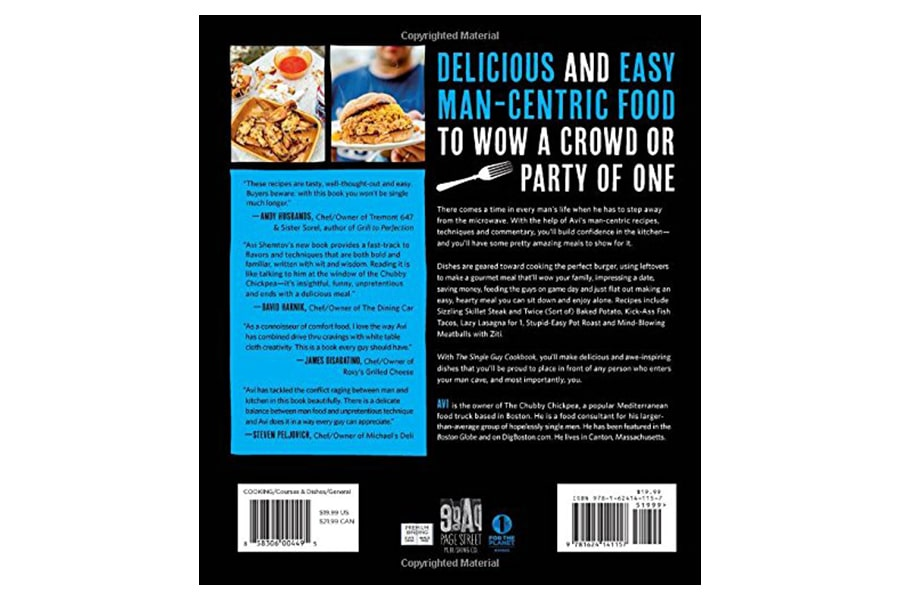 The Single Guy Cookbook back cover