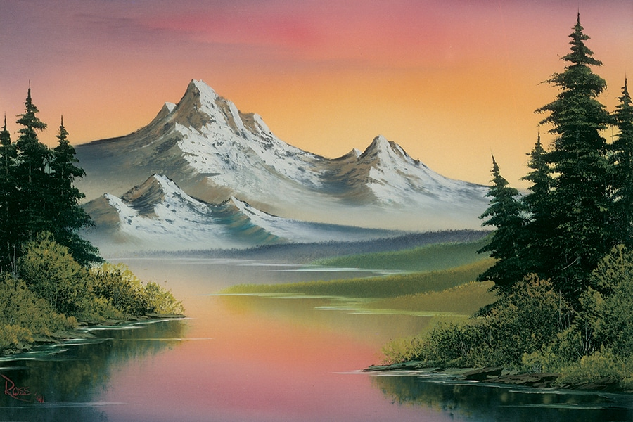 Bob Ross Scenery Paintings