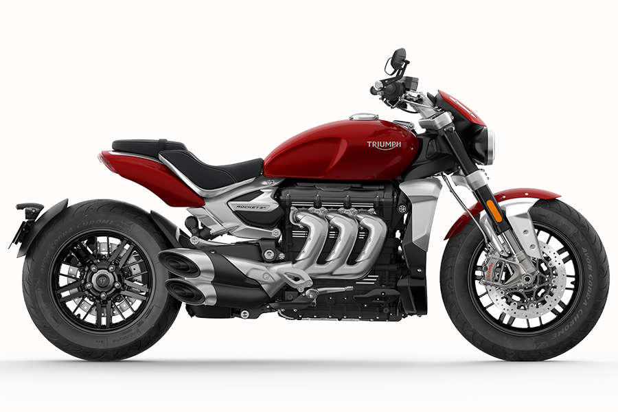 2020 Triumph Rocket 3 on the beach