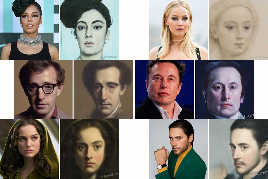 AI Technology Transformed 30 Celebrities Into Classical Paintings