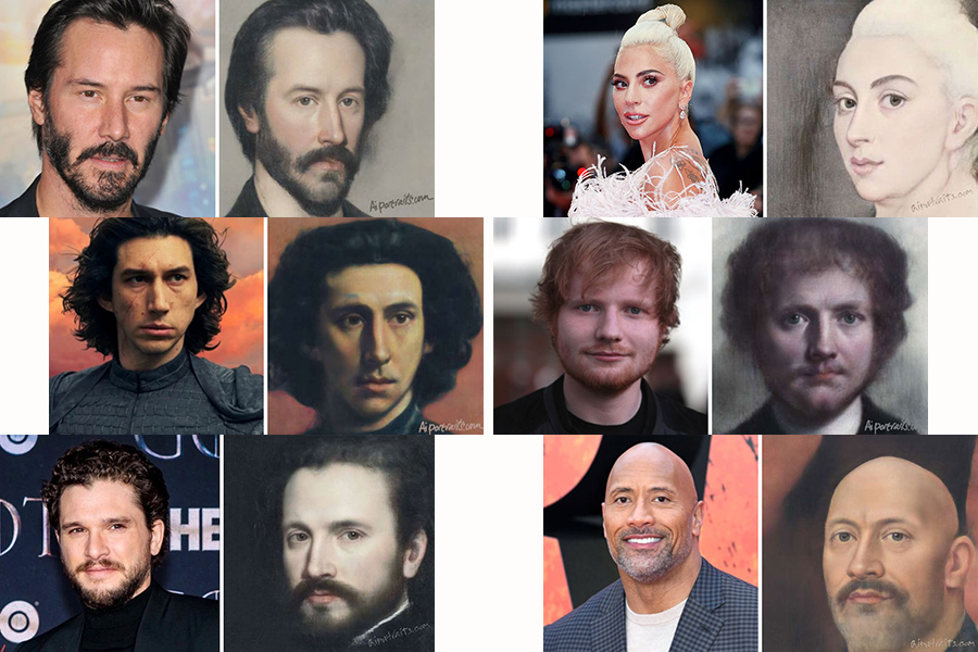 AI technology for classical painting